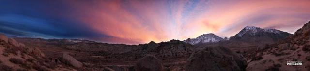 An ugly sunset at the Buttermilks.PHOTO: Nathan Getzin